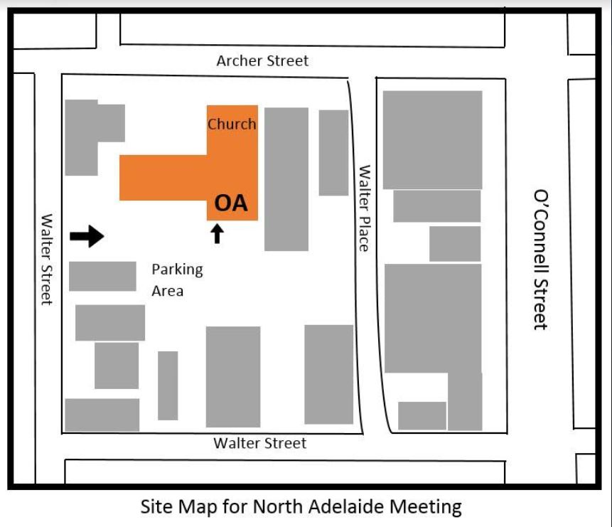 North Adelaide Meeting  site map